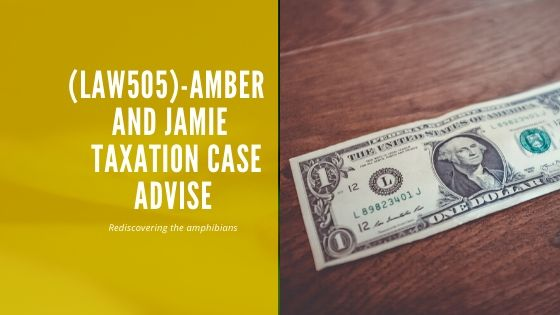 Amber  and Jamie  taxation case advise