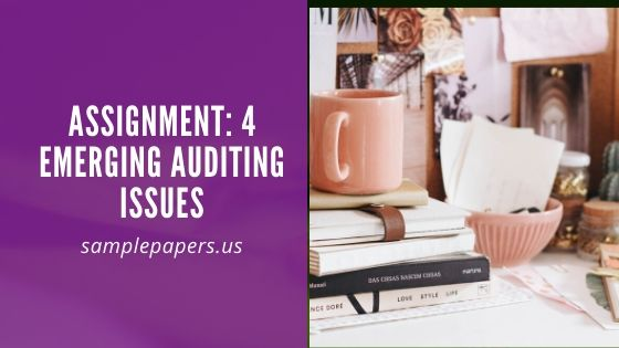 Assignment: 4 Emerging Auditing Issues