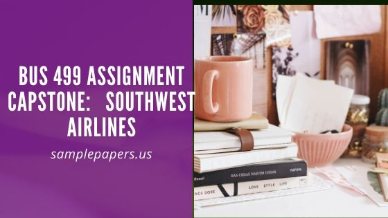 BUS 499 Assignment Capstone:   Southwest Airlines