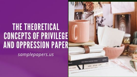 The Theoretical Concepts of Privilege and Oppression Paper