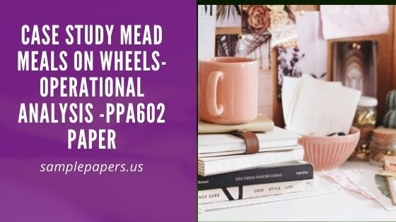 Case Study Mead Meals on Wheels-Operational Analysis