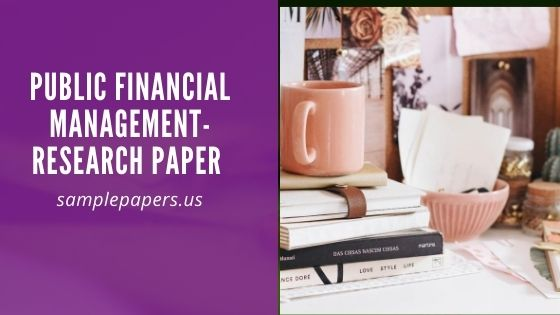 Public financial Management-Research paper